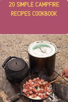 Everything tastes better cooked over a campfire. But it's too easy to be limited to hot dogs, beans, free-dried meals, and bland canned tuna. These campfire recipes will make everyone look forward to eating their dinners at the campground or backyard charcoal BBQ grill. Including no-mess s'mores, snapper, spaghetti carbonara, chili Diy Camping, Camping Meals, Tent Camping, Camping Hacks, Oven Chicken And Rice, Dutch Oven Chicken, Campfire Recipes, Campfire Food, My Cookbook