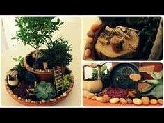Miniature Dollhouse In A Walnut Tutorial // DIY Mouse House - YouTube