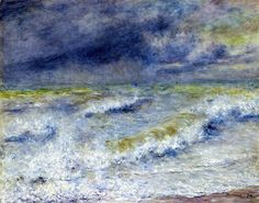 "Impressionismo - One of Renoir's few paintings that I really like... ""The Wave"""