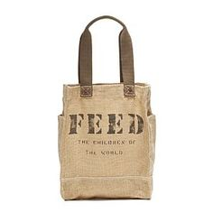 Feed the Children of the World.  FEED 50 Bag