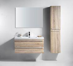 "40"" Sofia - Wheat - Single Sink Wall-Hung Bathroom Vanity"
