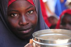 This is a girl WFP met at one of the 3 hot meals centres that WFP has recently opened in war-torn Kismayo, Somalia [via WFP]