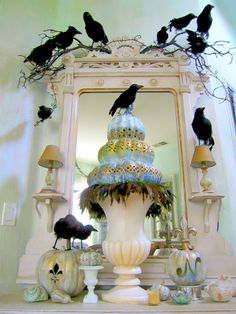 I love this idea.  I love the crows and have already bought some for another idea will finish this weekend. I bought mine at the Dollar Store and you guessed it, they were only a dollar!