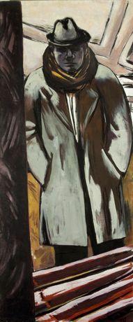Max Beckmann Self-portrait in the Hotel 1932 Marlborough Fine Art, London