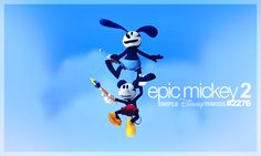 I love all the Epic Mickey games! Disney Epic Mickey, Disney Movies, Walt Disney, Mickey Cartoons, Oswald The Lucky Rabbit, Half Brother, Adventures By Disney, Fun Games, I Movie