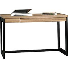 sauder kirby desk pale walnut