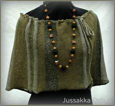 Kasvivärjätyistä langoista neulottu keeppi. #jussakka #neule #knitting #green #vihreä #natural dyed https://www.facebook.com/pages/JUSSAKKA-Oda-K/173696896121402?ref=hl www.jussakka.fi http://kasityokortteli.fi/