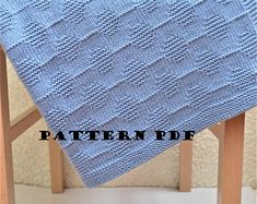 Baby blanket- KNITTING PATTERN only - not a final product! Pattern in English. Instant: PDF Download. Written instructions with diagram.
