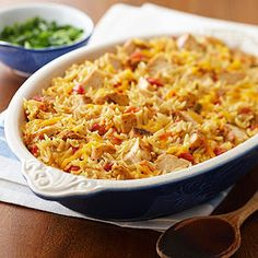 Preheat oven to 350 degrees F. In a large saucepan combine broth, undrained tomatoes and orzo. Bring to boiling. Stir in Grilled & Ready® Southwestern Chicken Strips. Transfer mixture to a 2-quart baking dish.