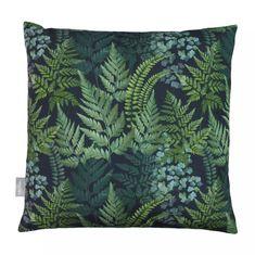 Opulent Velvet Cushion - Ferns - Celina Digby Green Girls Rooms, Green Velvet Fabric, Garden Cushions, Outdoor Dining Chairs, Green Carpet, Velvet Cushions, Cushion Pads, Retro Design, Green And Grey