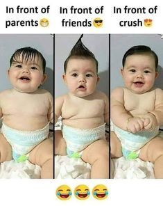 latest funny kids images Funny Baby Pictures, Funny Picture Jokes, Funny Pictures With Captions, Funny Photos, Funny Images, Funny Puns, Funny Laugh, Funny Cartoons, Funny Facts