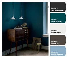 It's a little dark, but for a room with lots of windows, this color would be awesome! Blue peacock walls