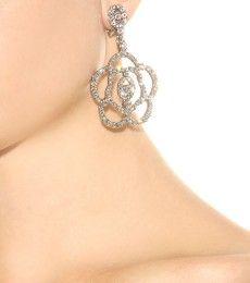 Oscar de la Renta - Boucles d'oreilles clips à cristaux - mytheresa.com