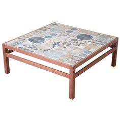 Teak Coffee Table by Willy Beck with Tue Poulsen Tile Top