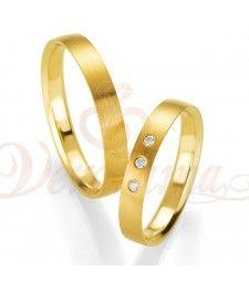 Βέρες γάμου χρυσές με διαμάντι breuning 4416