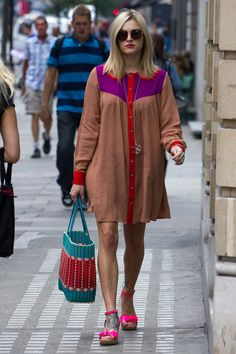 Fearn Cotton Fearne Cotton, Funky Style, My Style, Moda Funky, Funky Fashion, Cotton Style, Confident, Celebrity Style, Shirt Dress