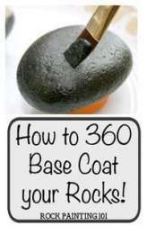 Give your rocks an all around base coat with these rock painting for beginner tips coatrocks basecoat howtopaintrocks rockpaintingtips paintingtips # Rock Painting Ideas Easy, Rock Painting Designs, Painting Tips, Paint Designs, Beginner Painting, Painting Art, Rock Painting For Kids, Watercolor Painting, Watercolor Artists