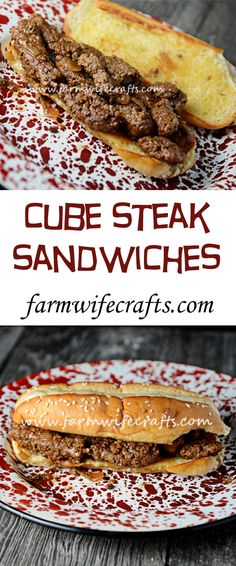 Steak Sandwiches - The Farmwife Crafts A hearty meal that is delicious. These cube steak sandwiches are sure to please those tastebuds.A hearty meal that is delicious. These cube steak sandwiches are sure to please those tastebuds. Tacos, Tostadas, Steak Sandwiches, Wrap Sandwiches, Steak Sandwich Recipes, Dinner Sandwiches, Antipasto, Beef Recipes, Cooking Recipes