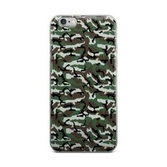 French Central Europe Camo iPhone case