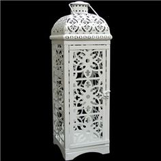White Flourish Metal Lantern   Shop Hobby Lobby