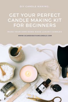 Look no further! We think at least :) Want to make candles in style or give that special DIY gift set to somebody that deserves some cheering up? With this candle making kit for beginners you get all the supplies needed to create 6 beautiful scented soy candles. #scandinavian #DIY #thoughtfulgifts Natural Candles, Best Candles, Soy Wax Candles, Diy Candles, Scandinavian Candles, Candle Making Supplies, Candlemaking, Luxury Candles, Thoughtful Gifts