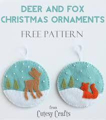 felt christmas ornaments patterns free - Google Search