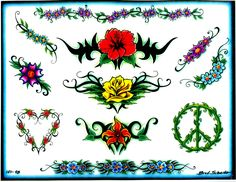 flower tattoo | Flower tattoos Designs - Free Flower tattoos to Download and Print.