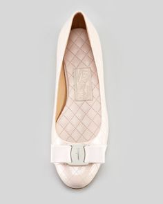 Salvatore Ferragamo Isea Quilted Patent Leather Ballet Flat, Loto Pink