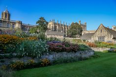 Christchurch college gardens in Oxford, England. Places to go in England