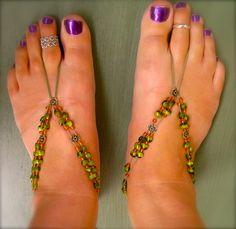 Green and orange footies.