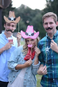 Photo booth at Hoedown party. Country BBQ