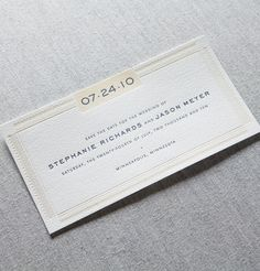 I love the clean modern look of this invitation