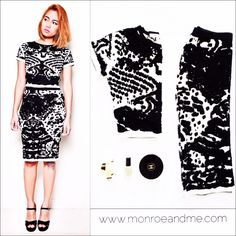 Coords ❤️ Shop this complete outfit for 499 AED/135 USD at monroeandme.com by @lucyparis_losangeles #sets #coords #ootd #monochrome #monroeandme #fashion #chanel #blackandwhite #dubai #uae #abudhabi #lebanon #kuwait #qatar #bahrain #oman #saudiarabia #egypt #cyprus #jordan #shopping #onlineshopping