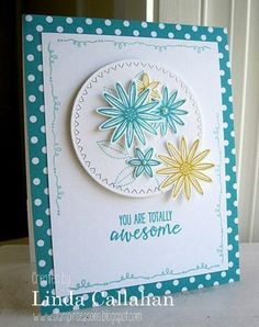It is not quite as summery here as this card looks.......but soon! When you live up north and the temperature cracks 60 that's good enough! It was a good day for soccer, ice cream and getting the bo