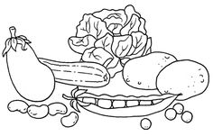 Dibujos de frutas y verduras para colorear - Betiana 1 - Picasa Web Albums Coloring Book Pages, Infant Activities, Fish And Seafood, Fruits And Vegetables, Interior Design Living Room, Kids Meals, Snoopy, Drawings, Crafts
