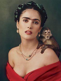 Frida Khalo Hair by Selma Hayek
