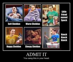sheldon cooper~ Yes I did