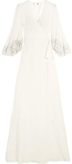 4a03e768a8 Breathtakingly beautiful Wedding dress! Temperley London - Rosemary  Embroidered Tulle-trimmed Silk Crepe De