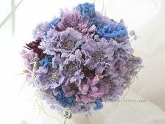 ブーケ プリザーブド 青と紫で : 一会 ウエディングの花