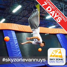 7 days until Sky Zone Van Nuys opens! #skyzonevannuys #skyzone #fun #jump #vannuys #california #igers #bounce #kids #teenagers #trampoline #love #picoftheday #sky #me #cute  #play #fitness #health #foampit #exercise #openjump #gymnastics #jumphigh #tumbling #workout #fit #fitness #trampoline #birthdayparty 7741 Havenhurst Ave, Van Nuys, CA. (951) 354-0001