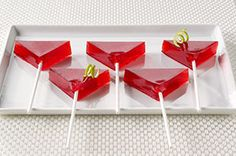 martini jello shots for ladies night.  Good idea to make them like this!