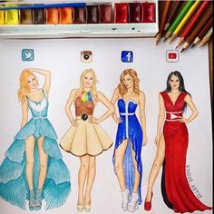 Social Media Queens Which One Is Your Favourite? By @edgar_artis _ Check out @universeofartists