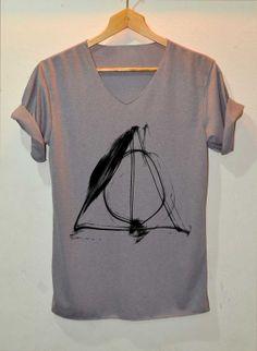 Deathly Hallows Shirt Harry Potter Shirts V-Neck Unisex Size S M L on Etsy, $15.99