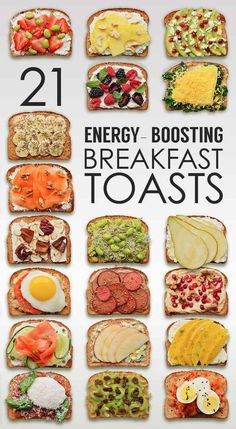 pinterest: 21 breakfast toasts