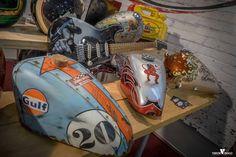 Custom Paint Motorcycle, Motorcycle Tank, Custom Motorcycles, Cars And Motorcycles, Hd Design, Cb550, Custom Tanks, Honda Shadow, Airbrush Art