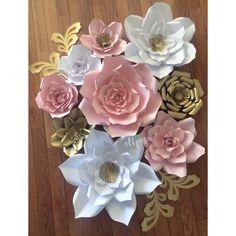 9 flores de papel de pc infantiles habitación niño