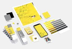 pantone selects 'ultimate gray' and 'illuminating' for color of the year 2021 Color Pick, Milk Shop, Tabletop Accessories, Color Pairing, Yellow Accents, Colored Highlights, Design Graphique, Messages, Color Of The Year