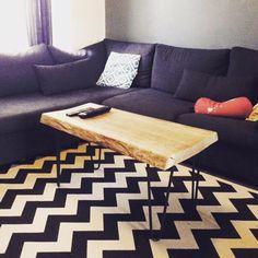 Atelier Ripaton - Hairpin Legs - Table basse bois & métal réalisée par notre cliente !  Des DIY faciles pour créer vos propres meubles avec des pieds en épingle solide made in France !
