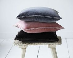 Stonewashed velvet cushions in a wide range of colours and sizes Velvet Cushions, Range, Colours, Cookers