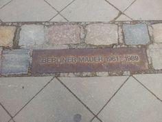 Klein monumentje van de Berlijnse muur